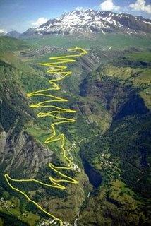 Alpe d'Huez, tough bugger of a climb, in fact it's very tough, especially when done on 53x23!