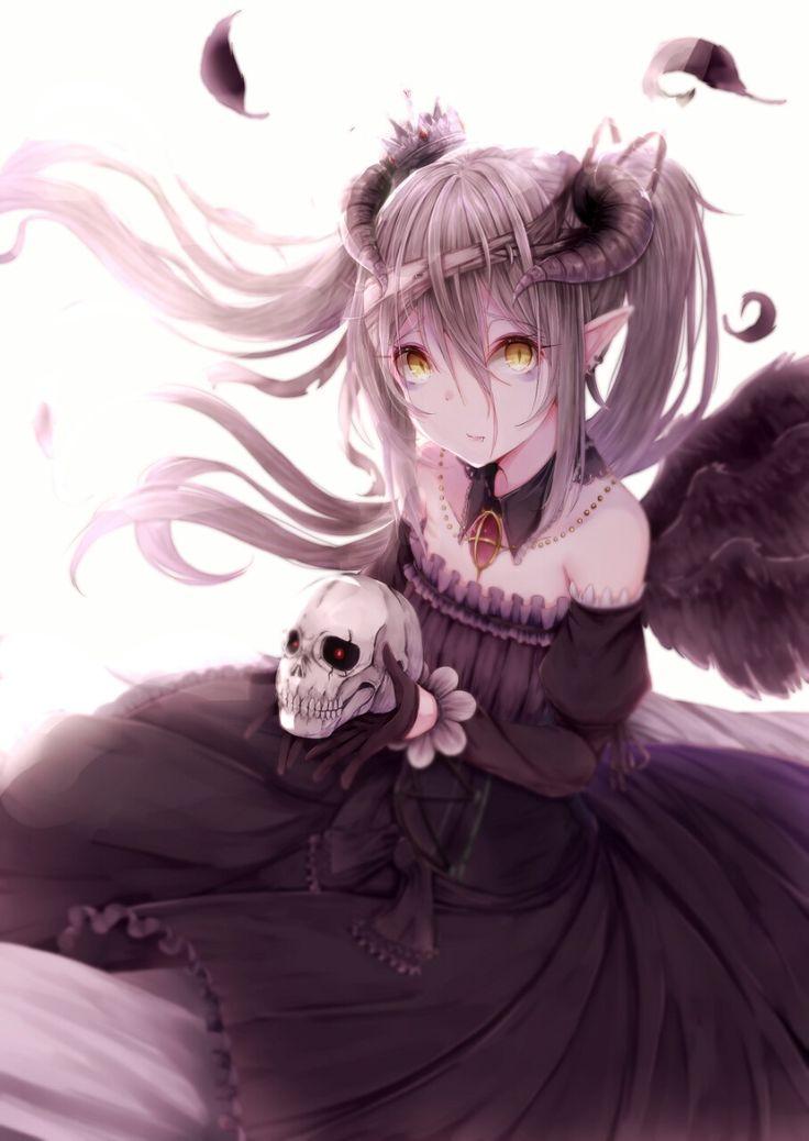 Image result for anime girl gothic dress white hair
