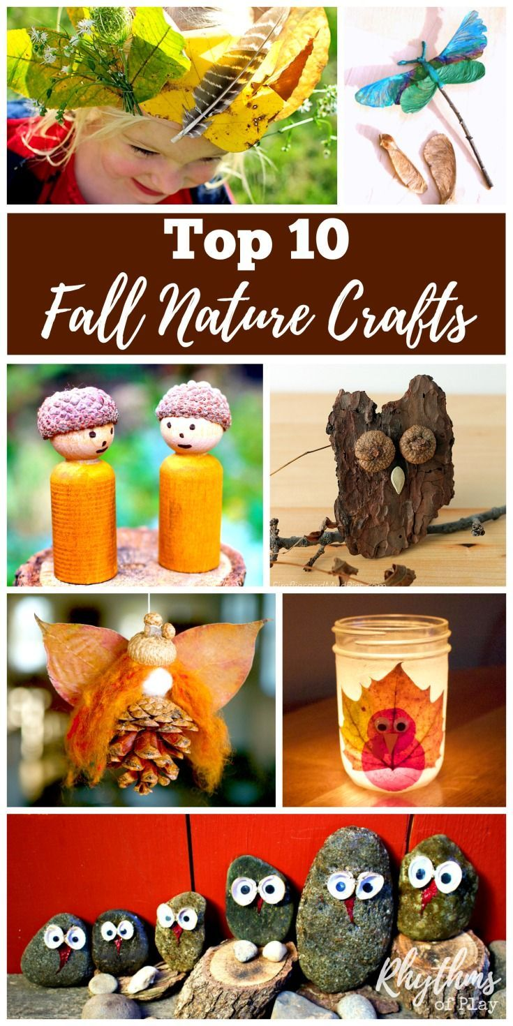 Try some of these fun top 10 fall nature craft projects this autumn. Fall is one of the best times of year to make nature crafts. There are always pinecones, acorns, walnuts, sticks and leaves laying on the ground waiting to be collected, and made into so