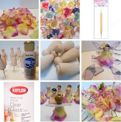 * Jennuine por Rook No. 17 *: A boneca de madeira Fada Peg DIY {favores lunático, coco do queque, e castiçais aniversário}