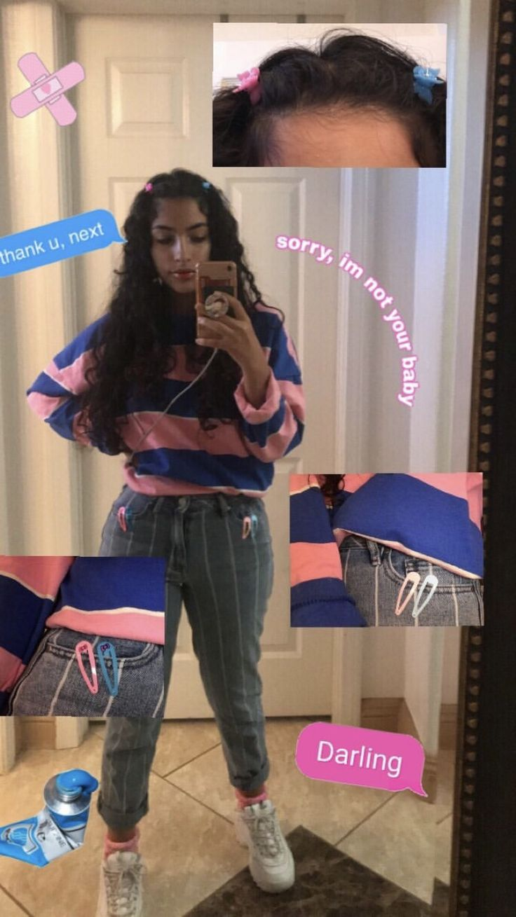 Cute Aesthetic Pink And Blue Outfit Ig Vereenasayed