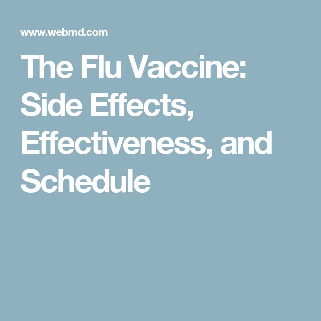 The Flu Vaccine: Side Effects, Effectiveness, and Schedule