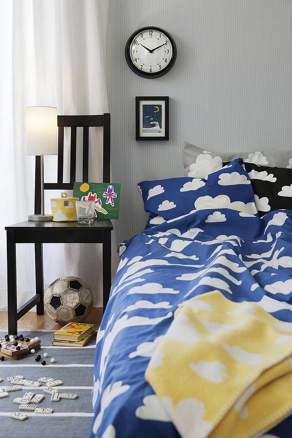 cloud print single bed set by nubie modern kids boutique | notonthehighstreet.com