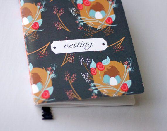 Nesting Pregnancy Journal Keep Sake Pregnancy Diary by abeadles