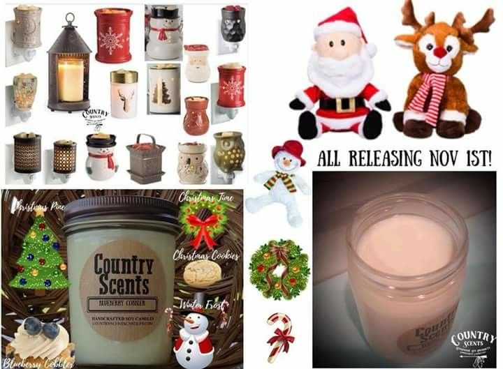 Holiday scents, warmers and country kinz.  Get your at www.countryscentscandles.com/store/jackiewerner
