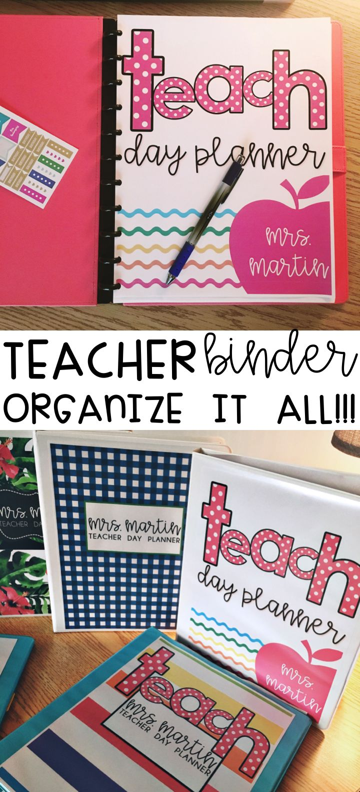 Teacher Binder, $ editable updates for life