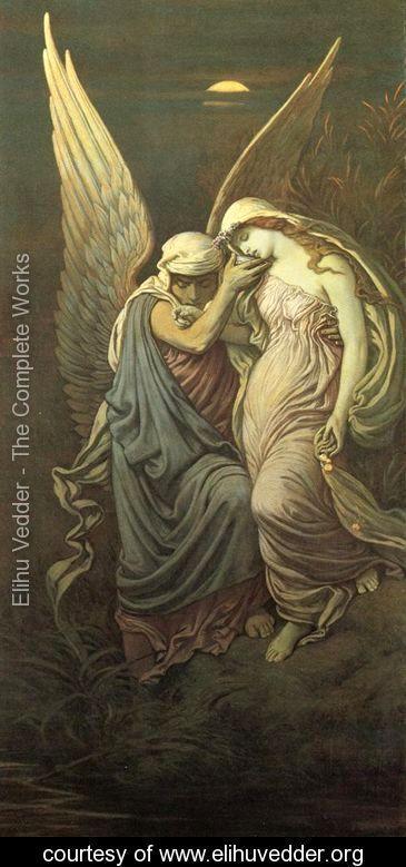 The Cup of Death - Elihu Vedder - www.elihuvedder.org Haar sluier rust zacht En bekleedt de eenzaamheid Met loden stilte Haiku, JMG Tops