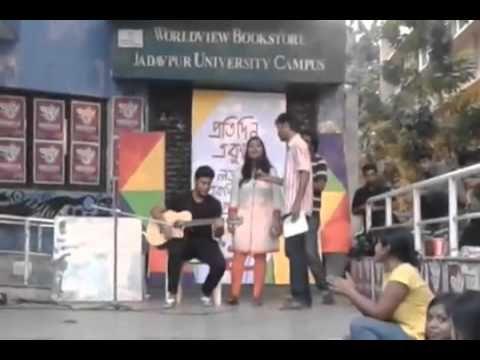 "Celebration of ""Bhasa Dibosh""- By Jadavpur University Students"