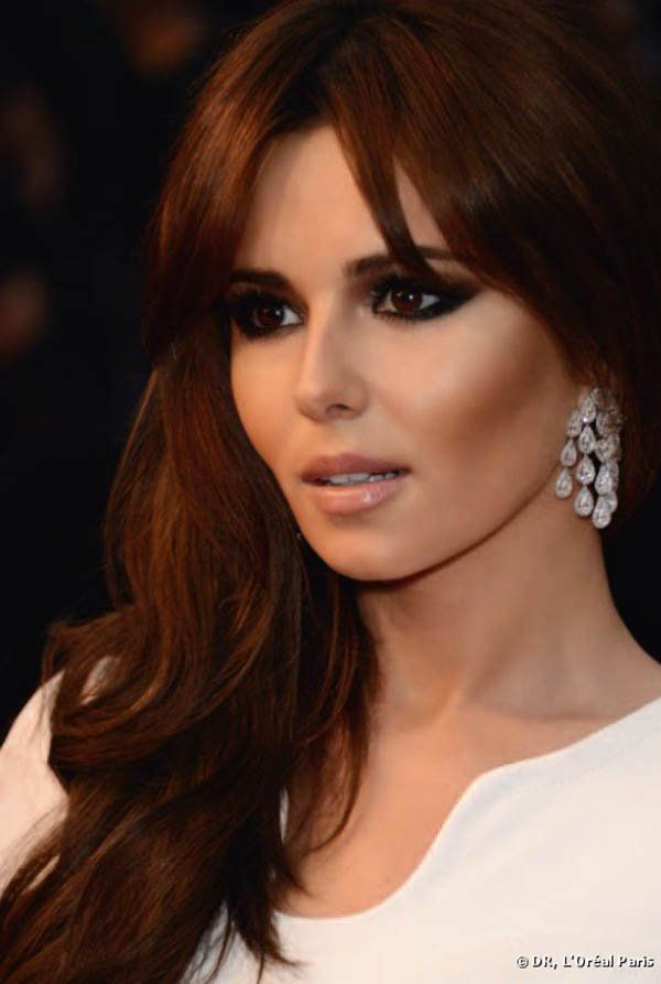 Cheryl Cole dark auburn hair color.....I like how it photographs so deep in color not so bright red..This is what I would like ..hmmmm