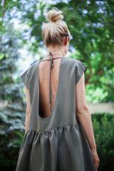 OPEN BACK OVERSIZE GREEN DRESS | Exceptional dress for summer parties & beach days <3 get it @ theodderside.com