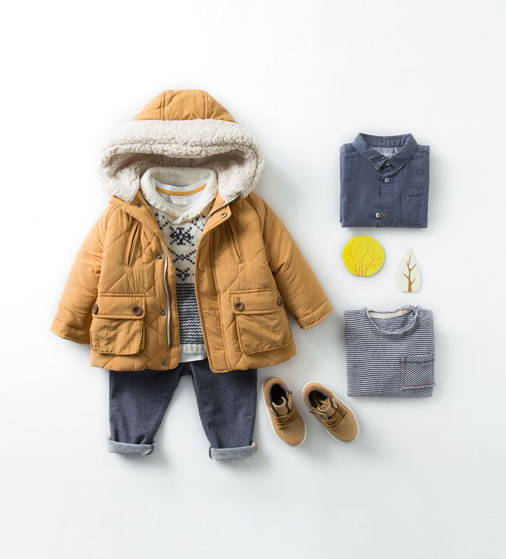 Such a cute fall look for a little boy. Love the camel brown paired with blue. Perfect for a little adventurer. #babyboy #babyoutfit #toddlerfashion