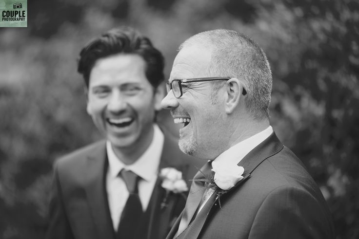 sharing a joke with the groomsman. Weddings by Couple Photography. www.couple.ie