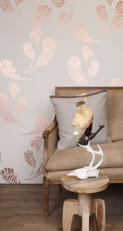 Wallpaper Trends 2016: 19 Stunning Examples of Metallic Wallpaper Rose-gold