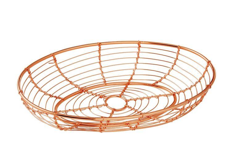 NEW ORWELL COPPERTONE SERVING BASKET Copper Tone Bread Serve Plate OVAL