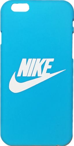"Nike Light Blue White ""Swoosh Logo"" Hard Plastic iPhone 6/6s + Plus Case"