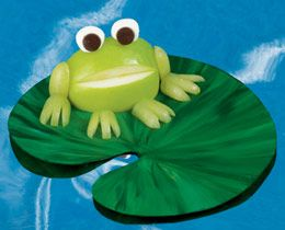 Turn an apple into a frog for a fun snack.
