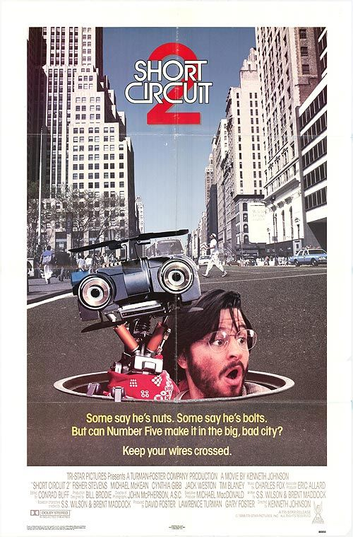 Short Circuit 2 (1988) movie posters at movie poster warehouse movieposter ...