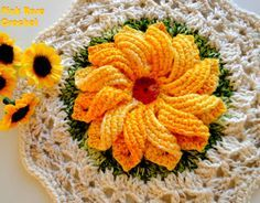 Interesting ideas for decor: CROCHET POTHOLDER....ВЯЗАНЫЕ ПРИХВАТКИ.