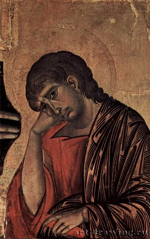Crucifixion, Tondo: Blessing Christ, the Crucifixion, Mary and John. Item: John. 1268-1271