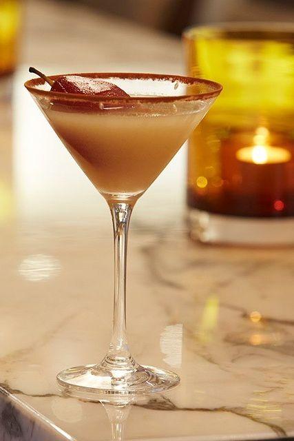 Our mixologist Sari's latest creation is the GOLDEN PEAR. at The Bar, cc: @hyattaustralia. {Park Hyatt Sydney}
