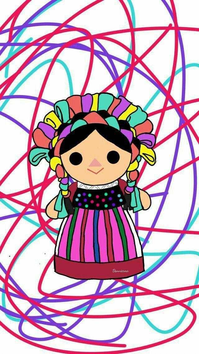 Munequita De Mexico Maria Decoraciondebanos Munecas Mexicanas Arte Popular Mexicano Fondos Mexicanos