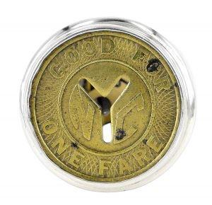 NYC subway token ring - $495