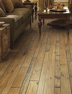 european design meets rustic southern flavor in this vintage pine plank from the french quarter collection by anderson floors - Anderson Flooring