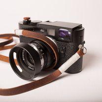 Midland Camera Strap, White Wrap | Odessa Goods