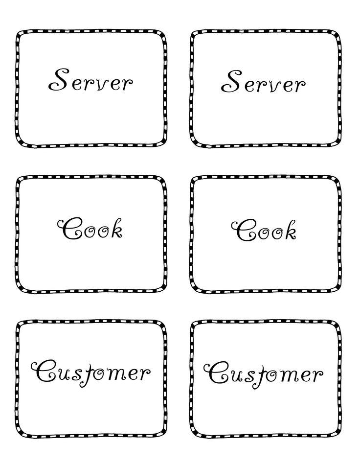 9 best dramatic play, restaurant printable menus images on - free printable restaurant menus