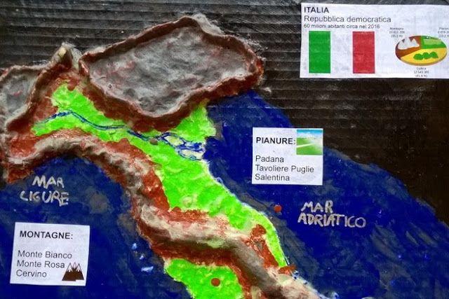 Cartina Veneto Mare.Cartina 3d Pasta Di Sale Italia Geografia Pasta Di Sale E