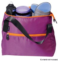 """Curves® Everyday Workout Bag. Lightweight nylon with top-zip closure and zippered front pocket. Fully lined with one zip and two slip pockets. 15"""" W x 13"""" H x 6"""" D. 8"""" handle drop. $19.99. Get yours at http://rhonda-kaczmarek.avonrepresentative.com"""
