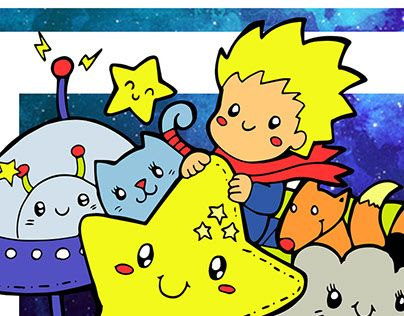 """Check out new work on my @Behance portfolio: """"Little Prince Doodle"""" http://be.net/gallery/53818569/Little-Prince-Doodle"""