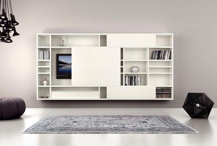 TV wegwerken in een kast, enkele vakken dicht en enkele open?