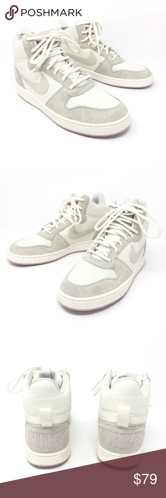 Nike Court Borough Mid Sneakers white Gray Sz 8 Nike Court Borough Mid Sneakers Premium Trainers Ladies Sz 8 Gray White NEW  Size: 8 Women's Color: Gray White Beige Style Name/Number: Court Borough Mid  Brand New without original box. Soles have slight marks from try-ons at store. Nike Shoes Sneakers
