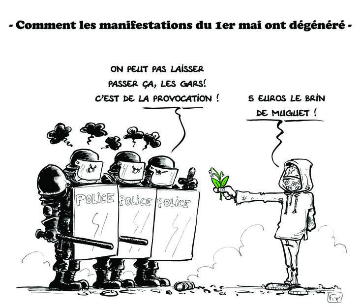 Fortes tensions entre CRS et manifestants le #1erMai
