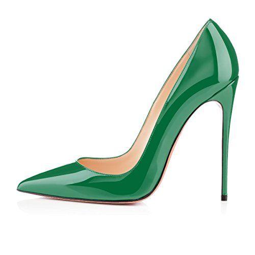 b0c8fc72d1f4a1 uBeauty Escarpins Femmes - Chaussures Stilettos - Talon Haut 12CM - Talon  Aiguille - Grande Taille - Chaussures Femme Talons Vert 39 EU