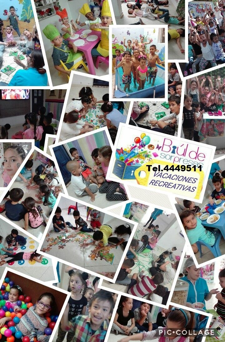 Diversión y Entretenimiento para Niños 3 a 10 años, con actividades Lúdico Recreativas como Cine, Piscina, Cocina, Manualidades, Aeróbicos, Spa, Piñata y muchas más