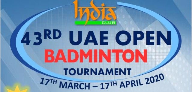 43rd Edition Of India Club Uae Open Badminton Tournament To Commence On March 17 News Headlines In 2020 Badminton Tournament Badminton Tournaments