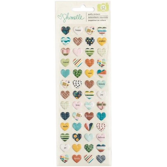 Shimelle Go Now Go - Heart Puffy Stickers