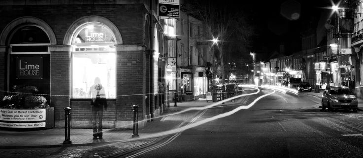 Market Harborough at night