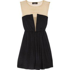 lady silk-chiffon jersey dress