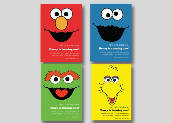 76 best Sesame Street images – Homemade Elmo Birthday Invitations