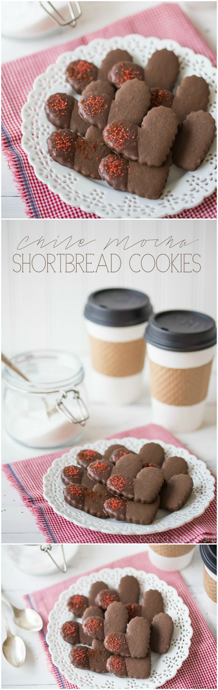 Chile Mocha Shortbread Cookies: So much flavor in these cute little hearts! Tasted just like the new Starbucks flavor, in cookie form. I loved the rich chocolate, cinnamon, and coffee, and there's just a hint of warm spice. Perfect winter treat! @boldwithbutter