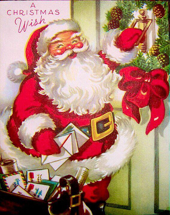Santa delivers at Christmas.