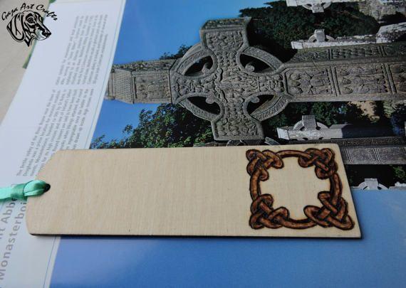 Celtic Knot Bookmark Pyrography Celtic Bookmark Irish
