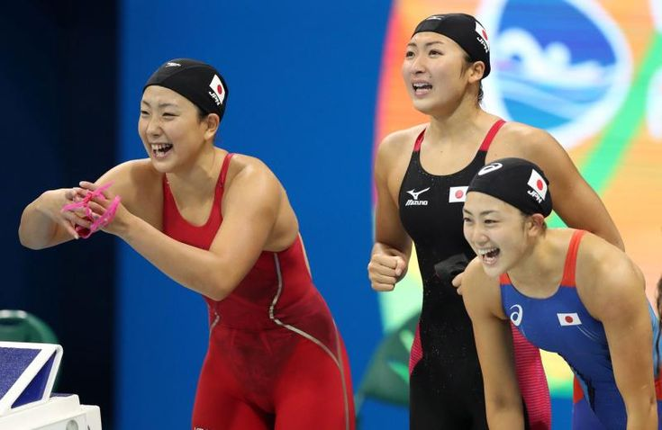 日本女子800mリレーで決勝進出 五十嵐は日本新 #リオ五輪 #競泳