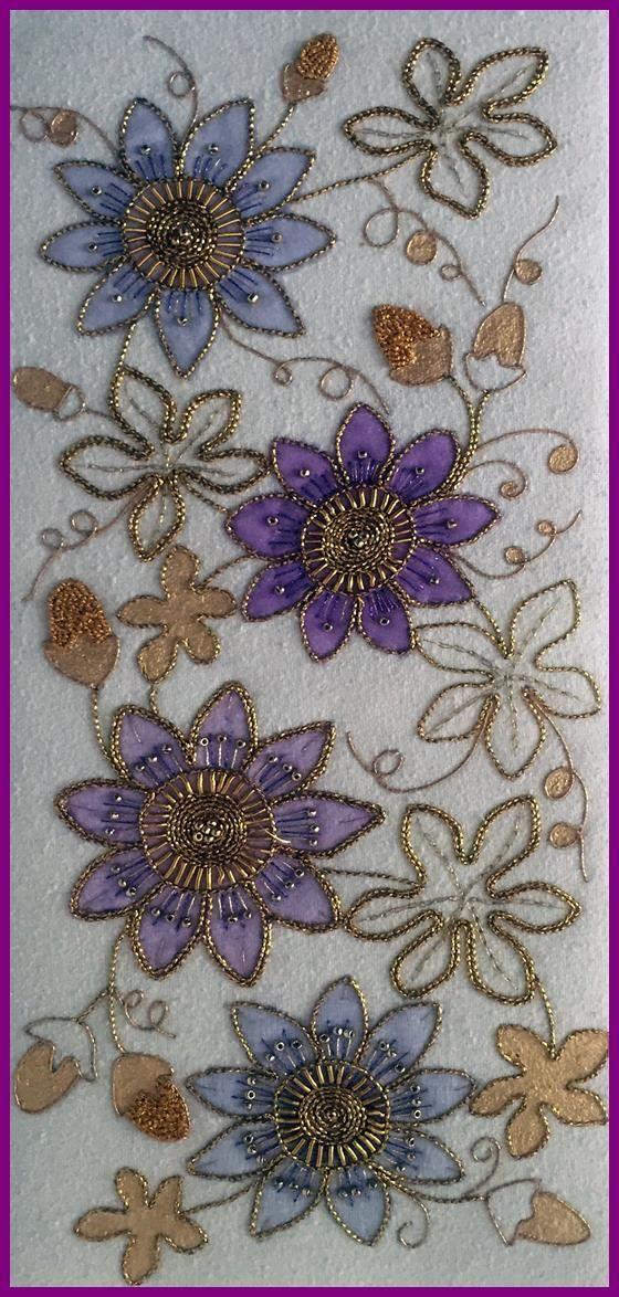 Goldwork Passion Flower