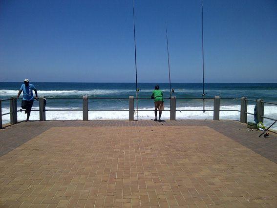 Fishing on one of Durban's piers. image taken by Karen Bradtke