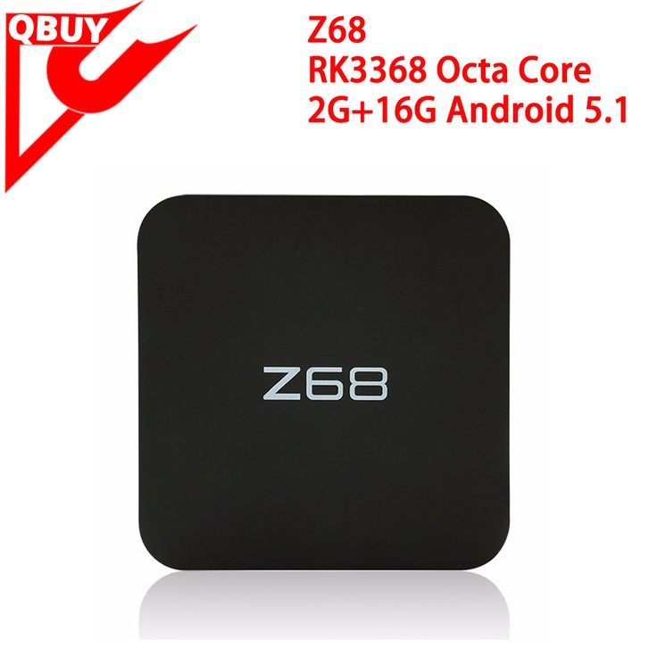 Top Selling RK3368 Z68 android tv box with 2G RAM + 16G ROM Rockchip 3368 Octa Core Android 5.1 smart tv box Z68 www.qbuytech.en.alibaba.com