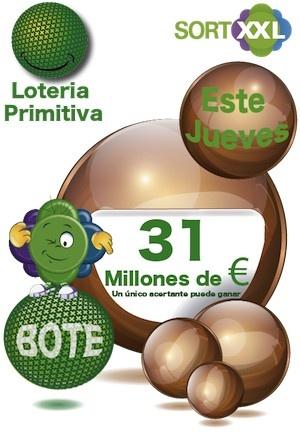 https://www.sortxxl.com/primitiva.php 31 MILLONES de Euros pueden ser tuyos....! https://www.sortxxl.com/euromillones.php Sorteo del Jueves 16 de Mayo   Quieres? Puedes...!!